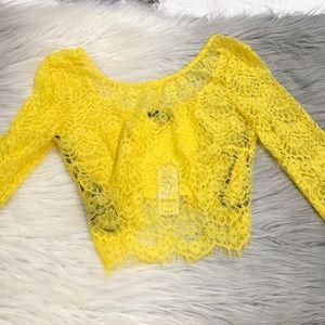 Bebe yellow crop top